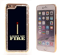 Light My Fire Design Luxury Hybrid Bling Glitter Sparkle With Crystal Rhinestone Case for iPhone 6