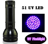 LED Flashlights / UV Flashlight LED 1 Mode 400lm/150lm LumensWaterproof / Impact Resistant / Nonslip grip / Ultraviolet Light /