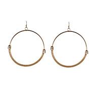 Fashion Women Mesh Chain Big Circle Earrings