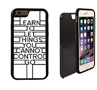 Unique Just Let Go Design 2 in 1 Hybrid Armor Full-Body Dual Layer Shock-Protector Slim Case for iPhone 6