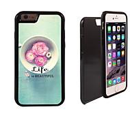 das Leben ist schön Muster 2 in 1-Hybrid Rüstung Ganzkörper-Dual-Layer-Schock-Schutz schlanke Fall für iPhone 6