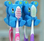 détenteurs forme mandrin animal brosse à dents multifonctions (couleur aléatoire)