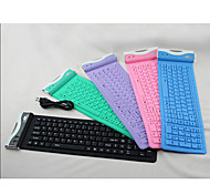 EW-107C Collapsible Silicone USB Keyboard for iPad and Other (Assorted Color)