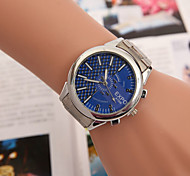 Men's Watches Europe And The United States Hot Double Scale Light Version Of Half Grid Steel Watch