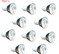 10pcs HRY® 3W GU5.3 260LM Light LED Spot Bulb(220V)