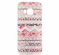 Pink Stripes Pattern TPU Soft Case for HTC One(M9)
