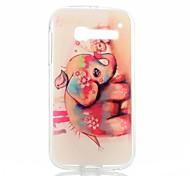 rosso modello elefante trasparente cassa del telefono di tpu sottile per Alcatel One Touch pop c5