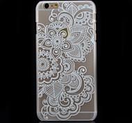 Modelo de la impresión flor blanca transparente caja del teléfono material de la PC de impresión para el iphone 6
