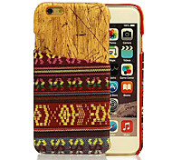 National Wind Streaks Pattern Wood PC And Textile Fabrics Combo Phone Case for iPhone 6
