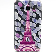 Pink Tower Pattern TPU Relief Back Cover Case for Samsung Galaxy J1