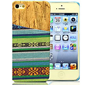 National Wind Streaks Pattern Wood PC And Textile Fabrics Combo Phone Case for iPhone 5/5S