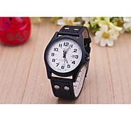 Men's Fashion Big Dial Quartz Analog Leather Band Sports Wrist Watch(Assorted Colors) Cool Watch Unique Watch