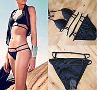 Black Sexy Swimsuit With a Chest Pad Whitout Steel Ring