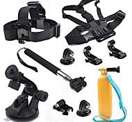 Acessórios da câmera esportes kit 10-em-1 para GoPro Hero 4/3/3 + / sj4000 / sj5000 / sjcam / xiaoyi
