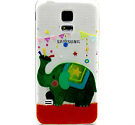 Relief Painting Green Elephant Pattern 0.2 Slim TPU Protective Shell for Samsung Galaxy S5 Mimi