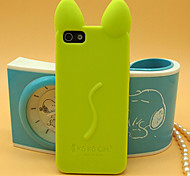 Solid Color Super Slim Cartoon Silicone Back Case for iPhone 6 (Assorted Colors)