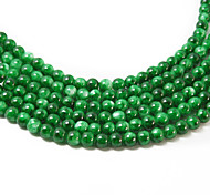 3str(apx.140pcs/str) Beadia Fashion Glass Beads 6mm Round Green Mottled Color DIY Spacer Loose Beads