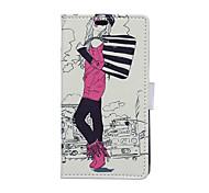 Fashion Girl Pattern Full Body Case for Sony Xperia E4