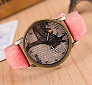 Women's Round Dial Case Fabric Watch Brand Fashion Quartz Watch Sport Watch Cool Watches Unique Watches