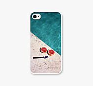 Characteristics of Pomegranate and Spoons Pattern PC Phone Case Back Cover for iPhone4/4S Case