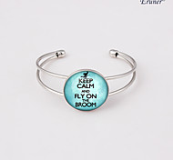 Euner® Keep Calm and Fly on the Broom Jewelry, Keep Calm and Carry on Bracelet
