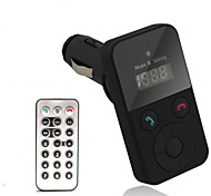 Portable Bluetooth V3.0 Car FM Transmitter w/ Hands-Free Calls / MP3 Player / USB 2.0 / TF Card / Remote
