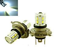 2 Stück Ding Yao Dekorativ Lichtdekoration H4 4 W 350-400 LM 6500-7500 K 12 SMD 5730 Kühles Weiß DC 12/DC 24 V