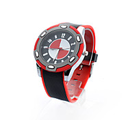 Men's New Silicone Patchwork Case Wide Band Watch(Assorted Color)