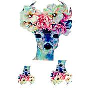 Tatuaggi adesivi - Serie animali - YeManNvYou - Bambino/Da donna/Girl/Da uomo/Adulto/Boy/Teen - 3 - Modello - di Carta - 6*5 - Multicolore
