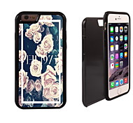 disegno 2 rosa in 1 ibrido armatura caso sottile di tutto il corpo a doppio strato di shock-protezione per il iphone 6 più