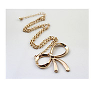 21 Brand Golden Bow Short Necklaces 1pc