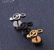 Lureme®Fashion Titanium Steel Hollow Musical Notation Ear Piercing  Body Jewelry Piercing(1 Pcs)(Random Color)