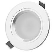 hésion hs03007 7w 630-770lm 3000k / 6000k lumière blanche / blanc chaud led lampe spot de plafond - argent (86 ~ 265V)