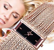 NEW Luxury Roman Square Dial Womens Ladys Chain Band Bracelet Dressed Wrist Quartz Watch
