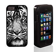 The Tiger Stare At You Design 2 in 1 Hybrid Armor Full-Body Dual Layer Shock-Protector Slim Case for iPhone 5/5S