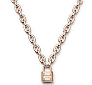 Romantic Lock Pendant Pendant Thick Necklace