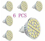 6 pcs  GU5.3  5W 29*SMD5050 440LM 6000-6500K Cool White MR16 Spot Lights AC 220-240 V