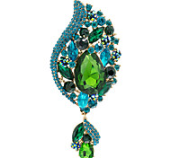 Women's Party Flower Brooch Broach Pins Jewelry Rhinestone (More Colors)