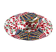 For Mom+ Daughters Girl Hats Summer Hat Fan Floral Print Fishing Hats Brand Girls Beach Hats Kids Sun Caps Size L