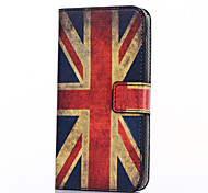 British Flag Pattern PU Leather Full Body Case with Stand and Card Slot for HTC Desire 526G+
