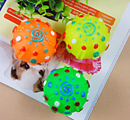 Cat / Dog Pet Toys Ball Sun Random Color Rubber