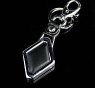 porte-clés de luminescence de diamant en cuir