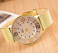 Women's Round Dial Case Alloy Watch Brand Fashion Quartz Watch