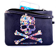 Skull Pattern Universal PU Lanyard Handbag Full Body Case for Samsung Galaxy  S6 S6 edge Note 4 Note 3 A5 A7 S5 S3Mini
