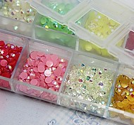 2500PCS 3MM Round AB Acrylic Rhinestone Nail Art Decoration