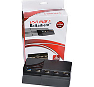 5 Port USB Expansion USB Hub for Sony Playstation 4 PS4 1 USB 3.0+4 USB 2.0