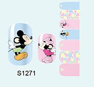 14PCS Nail Art Stickers A Series S1271