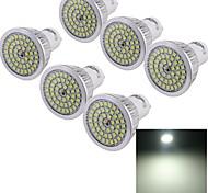 6W GU10 LED Spot Lampen 48 SMD 2835 610 lm Kühles Weiß Dekorativ AC 85-265 V 6 Stück