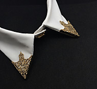 Европейская мода выдалбливают сплава воротник клип брошь (1pair)
