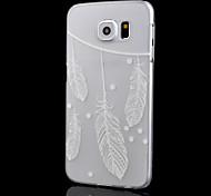 transparentes relevo ofícios impressão pena pc matagal caixa do telefone de material oco para Samsung Galaxy S6 borda